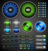 Internet-icons und buttons. — Stockvektor
