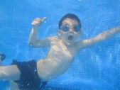 The child smile underwater — Stock Photo