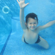 The child smile underwater — Stock Photo