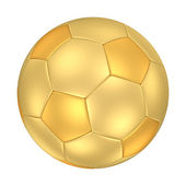 Golden Soccer Ball — Stock Photo