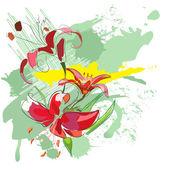 Lilies1 — Stock Vector