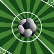 Постер, плакат: Football match To score a goal in a gate