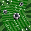 Football and stars — Vector de stock #11041210