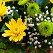 Chrysanthemum bright bouquet — Stock Photo