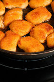 Few nuggets on pan — Stock Photo