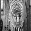 Stock Photo: Cathedral interior in black and white
