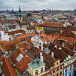 Stock Photo: Prague roofs at high point of view