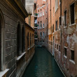 Venice narrow waterway — Stock Photo