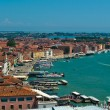 Venice roofs and harbor — Stock Photo