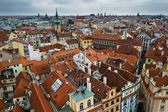 Prague roofs at high point of view — Stock Photo