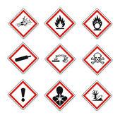 Znaki ostrzegawcze ghs zestaw vektor — Wektor stockowy