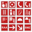 ������, ������: Fire safety sign fire fire warning sign set
