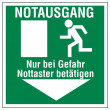 Rescue signs icon exit emergency exit - Image vectorielle