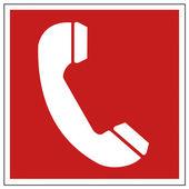 Brand säkerhet tecken brand telefon varningstecken — Stockvektor