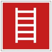 Avfyra säkerhet tecken stege varningstecken — Stockvektor