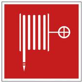 Brand säkerhet tecken brandslang varningsskylt — Stockvektor