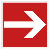 消防安全标志箭头警告标志 — Stockvektor