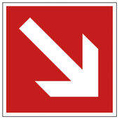 Yangın emniyet işaret ok uyarı işareti — Stok Vektör