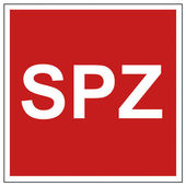 Avfyra säkerhet tecken spz varningstecken — Stockvektor
