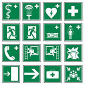 救援标志图标退出紧急集 — 图库矢量图片
