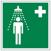 Rescue signs icon exit emergency Safety shower — Stock Vector