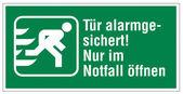Rescue signs icon exit emergency exit alarm — Stock Vector