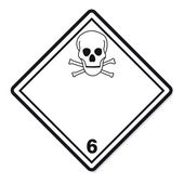 Hazardous substances signs icon flammable skull radioactive hazard — Stock Vector
