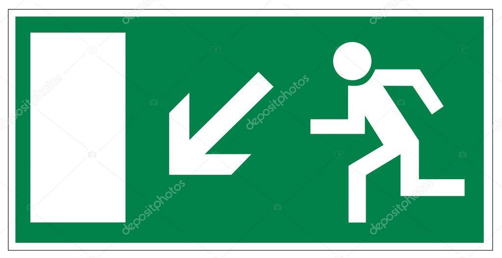Rescue signs icon exit emergency exit figure door on white Background created in Adobe Illustrator. — Stock Vector #11485325