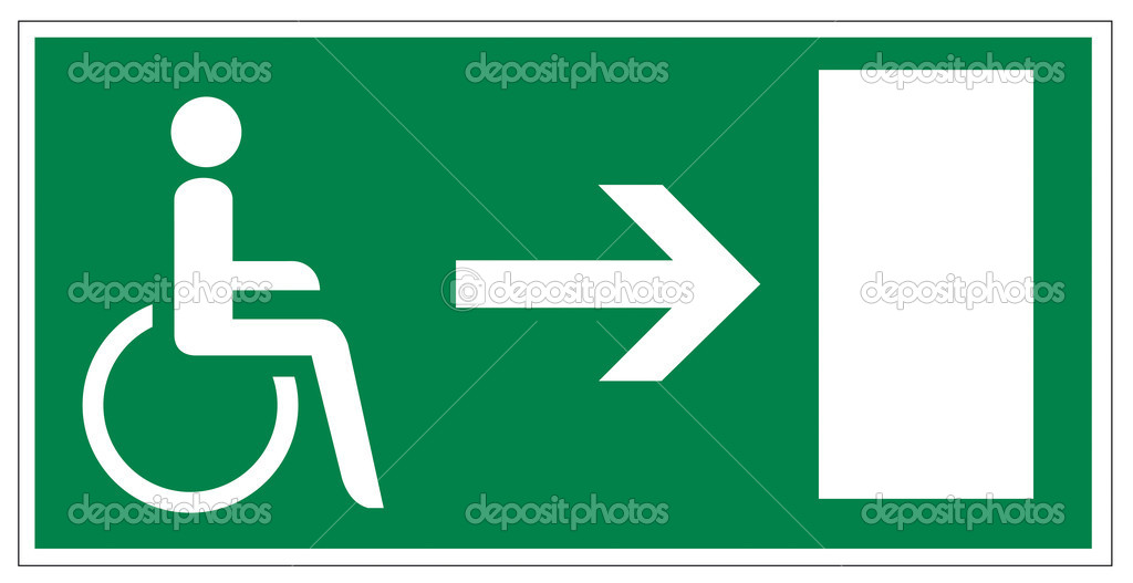 Rescue signs icon exit emergency exit figure door Accessibility disability on white Background created in Adobe Illustrator. — Stock Vector #11485356