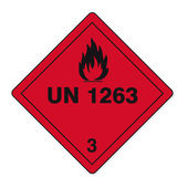 Hazardous substances signs icon flammable skull radioactive hazard fire — Stok Vektör