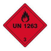 Tehlikeli maddelerin işaretleri simgesi yanıcı kafatası radyoaktif tehlike ateş — Stok Vektör