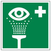 Rescue signs icon exit emergency eye shower — Stock Vector