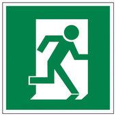 Rescue signs icon exit emergency exit figure door — Stock Vector