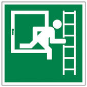 Rescue signs icon exit emergency exit figure door ladder — Stock Vector