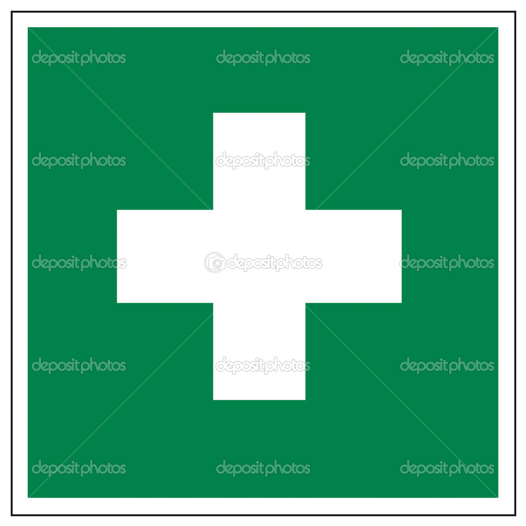 Rescue signs icon exit emergency first aid kit on white Background created in Adobe Illustrator.  Stock Vector #11511327