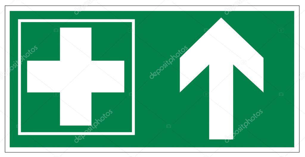 Rescue signs icon exit emergency first aid kit on white Background created in Adobe Illustrator.  Stock Vector #11511343