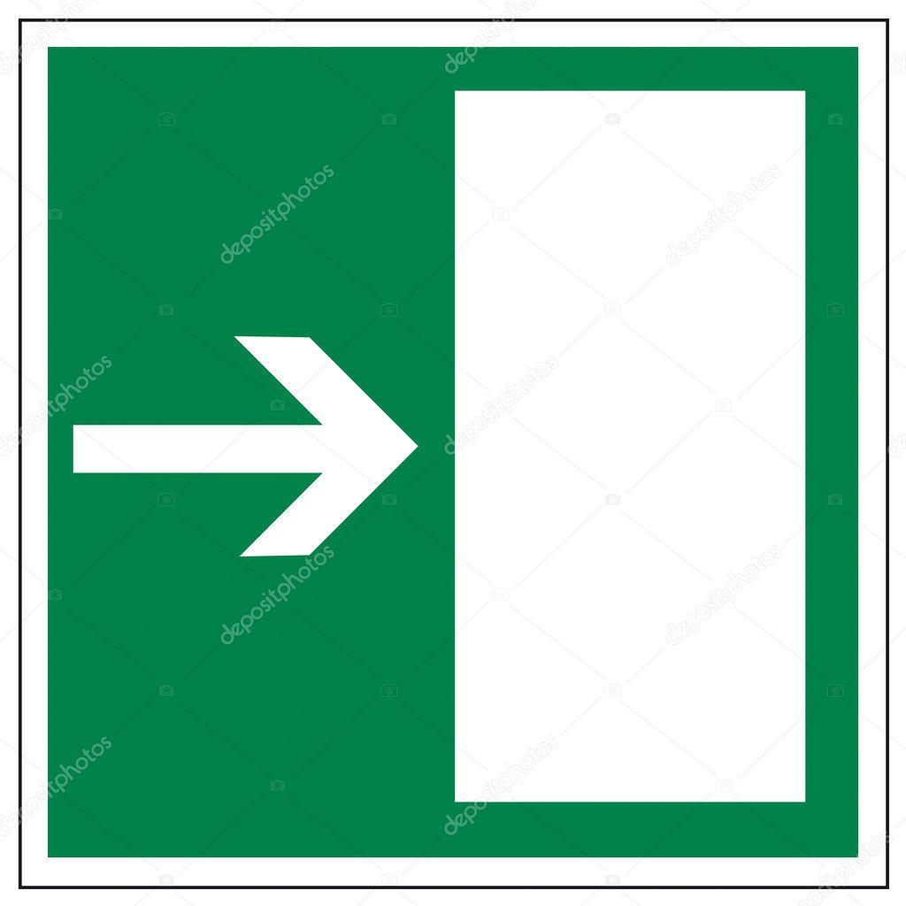 Puerta de rescate signos icono salida salida de emergencia for Precio de puertas salida de emergencia