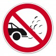 Prohibition signs BGV icon pictogram Turn off the engine while waiting — Stockvectorbeeld