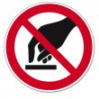 Постер, плакат: Prohibition signs BGV icon pictogram Do not touch