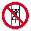 Stock Vector: Prohibition signs BGV icon pictogram Climb for unauthorized