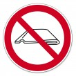 Постер, плакат: Prohibition signs BGV icon pictogram Do not fold or push together