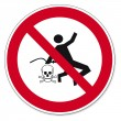 Постер, плакат: Prohibition signs BGV icon pictogram Dry cleaning with compressed air prohibited