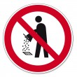 Постер, плакат: Prohibition signs BGV icon pictogram Do not empty into drains