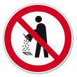 ������, ������: Prohibition signs BGV icon pictogram Do not empty into drains