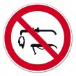 prohibition signs bgv icon pictogram welding prohibited — Stock Vector