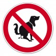 Постер, плакат: Prohibition signs BGV icon pictogram This is no dog toilet