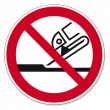Prohibition signs BGV icon pictogram Not permitted for face grinding — Stock Vector
