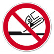 Постер, плакат: Prohibition signs BGV icon pictogram Not permitted for face grinding
