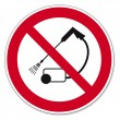 Постер, плакат: Prohibition signs BGV icon pictogram Clean with high pressure prohibited