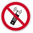 Постер, плакат: Prohibition signs BGV icon pictogram mobile phone banned smartphone